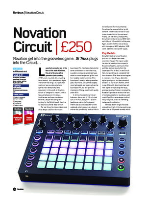 Future Music Novation Circuit