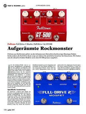 guitar Fulltone Full-Drive 2 Mosfet, Full-Drive 3 & GT-500