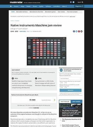 MusicRadar.com Native Instruments Maschine Jam