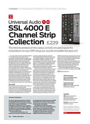 Computer Music Universal Audio SSL 4000 E Channel Strip Collection