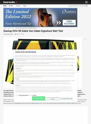 Bonedo.de Dunlop EVH-95 Eddie Van Halen Signature Wah