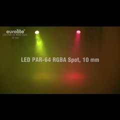 Eurolite LED PAR64 RGBA 10mm Black