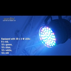 Eurolite LED PAR-64 RGBW+UV short